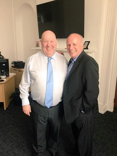 Mayor Joe Anderson and FA Chairman Greg Dyke